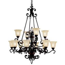 Wilton 12-Light Chandelier by Kichler