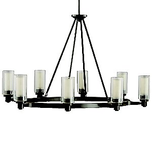 Circolo 8-Light Oval Chandelier by Kichler