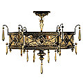 Brazilian No. 606640 Semi-Flushmount by Fine Arts Lamps
