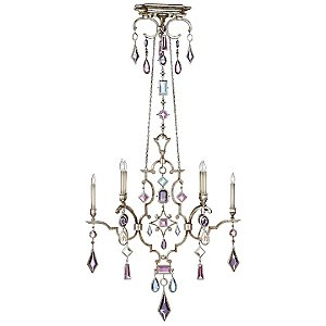 Encased Gems 6 Light Linear Chandelier by Fine Art Lamps
