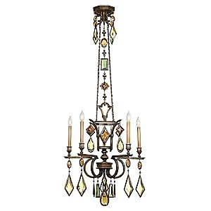 Encased Gems 5 Light Chandelier by Fine Art Lamps