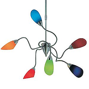 Poli Po 6 Light Chandelier by De Majo