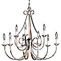 Dover Two-Tier Scroll Chandelier by Kichler