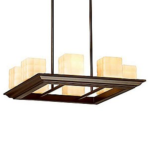 Mason 8-Light Square Suspension by Forecast Lighting