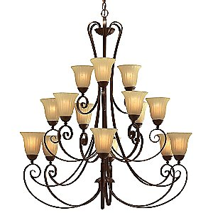 Willowmore 3 Tier Chandelier by Kichler