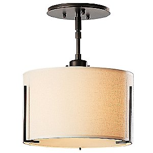 Exos Single Shade Semi-Flushmount Small by Hubbardton Forge
