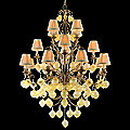 Venetian Three-Tier 16 Light Chandelier by Corbett Lighting
