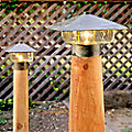Outdoor Lamp Mounting Post by Coe Studios