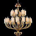Pinot Two-Tier 24 Light Chandelier by Corbett Lighting