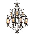 St. Moritz Two-Tier Chandelier by Corbett Lighting
