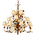 Tivoli Three-Tier 16 Light Chandelier by Corbett Lighting