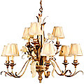 Tivoli Two-Tier 9 Light Chandelier by Corbett Lighting