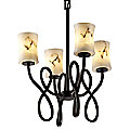 LumenAria Capellini Hourglass Chandelier by Justice Design