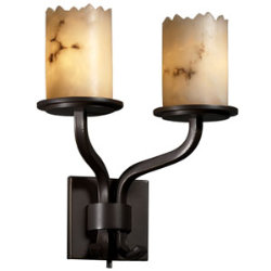 LumenAria Sonoma Cylinder Double Wall Sconce by Justice Design