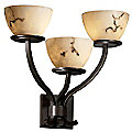 LumenAria Sonoma 3 Light Bowl Wall Sconce by Justice Design