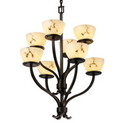 LumenAria Sonoma Two-Tier Bowl Chandelier by Justice Design