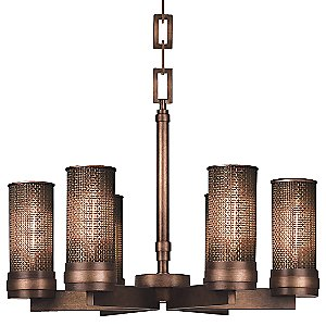 Copper Veil No. 741040 Chandelier by Fine Art Lamps