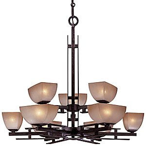 Lineage Two-Tier Chandelier by Minka-Lavery