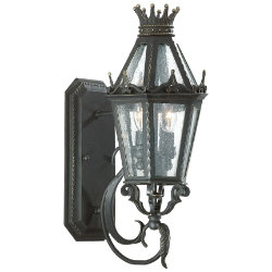 Medici Outdoor Wall Sconce w/ Scroll by Troy Lighting