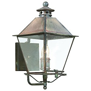 Montgomery Outdoor Wall Sconce with Metal Top by Troy Lighting