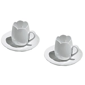 Tulip Mocha Cups with Saucers by Alessi