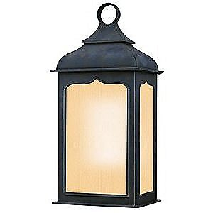 Henry Street Outdoor Flush Wall Sconce w/ Frosted Seeded by Troy Lighting