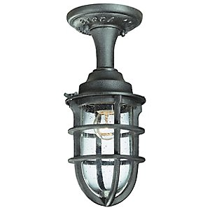 Wilmington Outdoor Semi-Flushmount Lantern by Troy Lighting