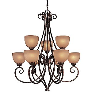 Caspian Two-Tier Chandelier by Minka Lavery