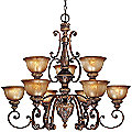 Illuminati Two-Tier Chandelier by Minka Lavery