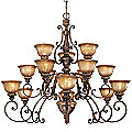 Illuminati Three-Tier Chandelier by Minka Lavery
