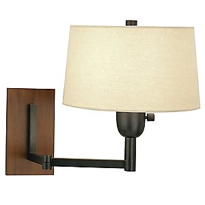 Wonton Single Arm Wall Swinger Lamp by Robert Abbey