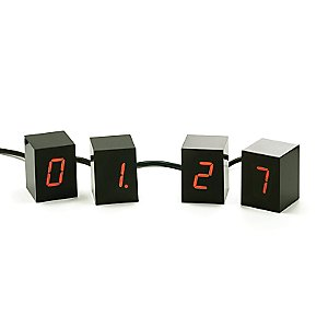 Numbers LED Alarm Clock by Jonas Damon for Areaware