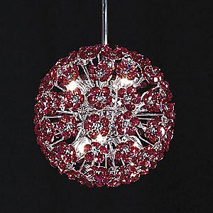 Tekno Mini Sun Sphere Imperial Crystal Suspension by James R Moder