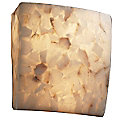 Alabaster Rocks! Square Wall Sconce by Justice Design