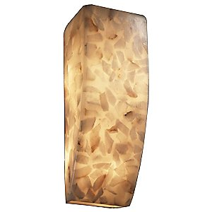 Alabaster Rocks! Rectangle Wall Sconce by Justice Design