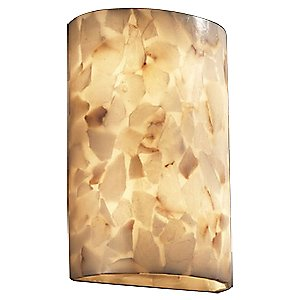 Alabaster Rocks! Large Cylinder Wall Sconce by Justice Design