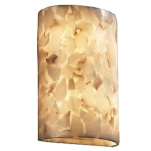 Alabaster Rocks! Really Big Cylinder Wall Sconce by Justice Design