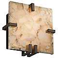 Alabaster Rocks! Clips Square Wall Sconce by Justice Design
