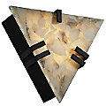 Alabaster Rocks! Clips Triangle Wall Sconce by Justice Design
