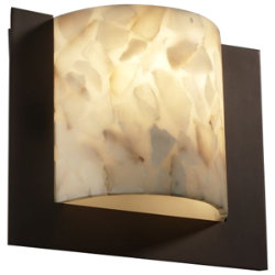 Alabaster Rocks! Framed Square Wall Sconce by Justice Design