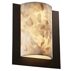 Alabaster Rocks! Framed Rectangle Wall Sconce by Justice Design