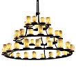 Alabaster Rocks! Three Tier Ring Chandelier by Justice Design