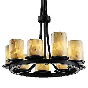 Alabaster Rocks! 9 Light Ring Chandelier by Justice Design