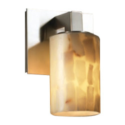 Alabaster Rocks! Modular Wall Sconce by Justice Design
