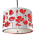 Poppies Drum Pendant by Stonegate Designs