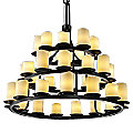 CandleAria Dakota Three-Tier Ring Chandelier by Justice Design
