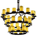 CandleAria Dakota Three-Tier Inverted Chandelier by Justice Design