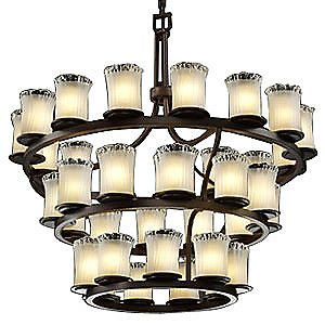 Veneto Luce Dakota Inverted Three-Tier Chandelier by Justice