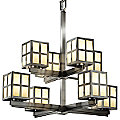 Plus Windows Two-Tier Chandelier by Justice Design