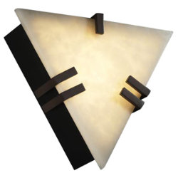 Clouds Clips Triangle Wall Sconce by Justice Design